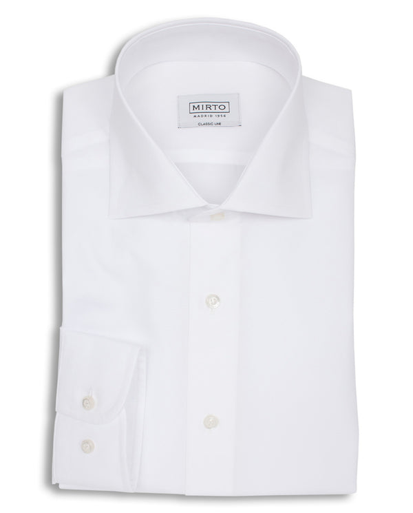 CAMISA VESTIR DE POPELIN BLANCO by MIRTO