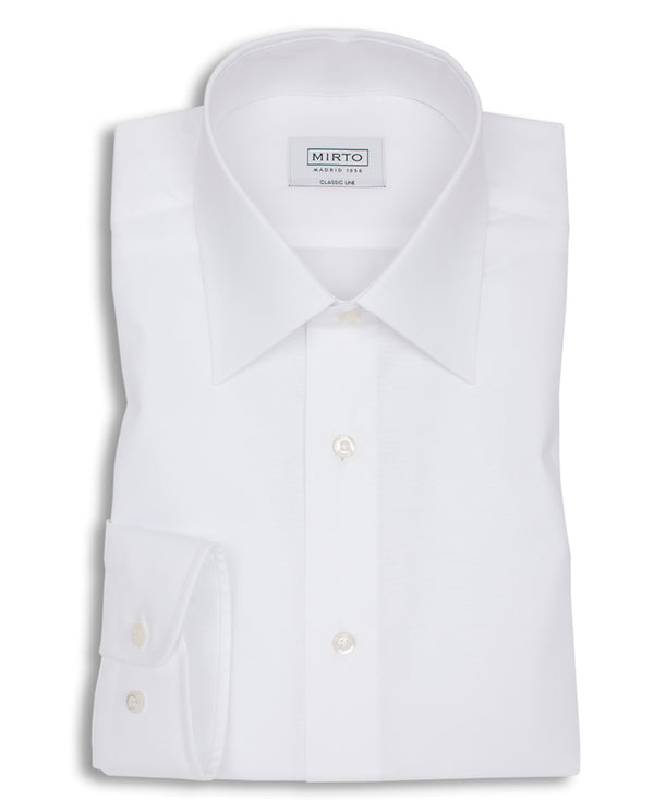 CAMISA VESTIR POPELIN BLANCO by MIRTO