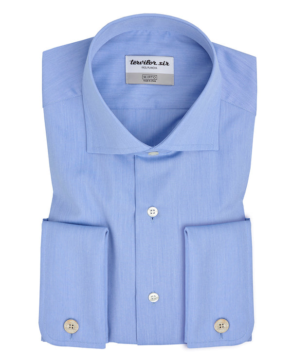 CAMISA TERVILOR SIR FIL A FIL AZUL ROYAL