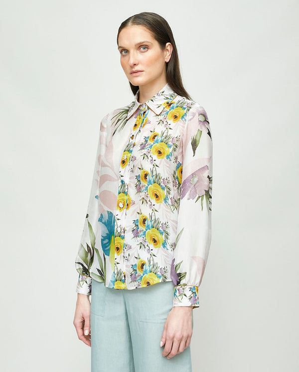 BLUSA SEDA DOBLE ESTAMPADO