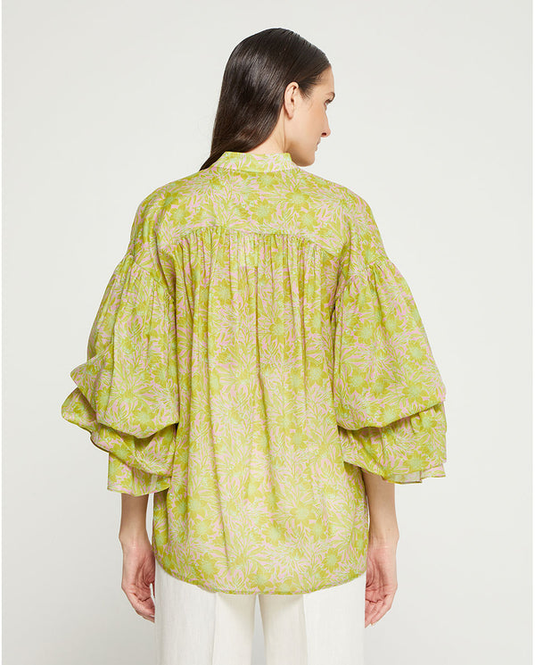 BLUSA VERDE ESTAMPADA by MIRTO