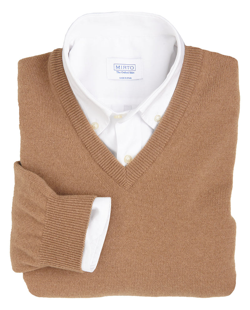 JERSEY LAMBSWOOL CUELLO PICO CAMEL