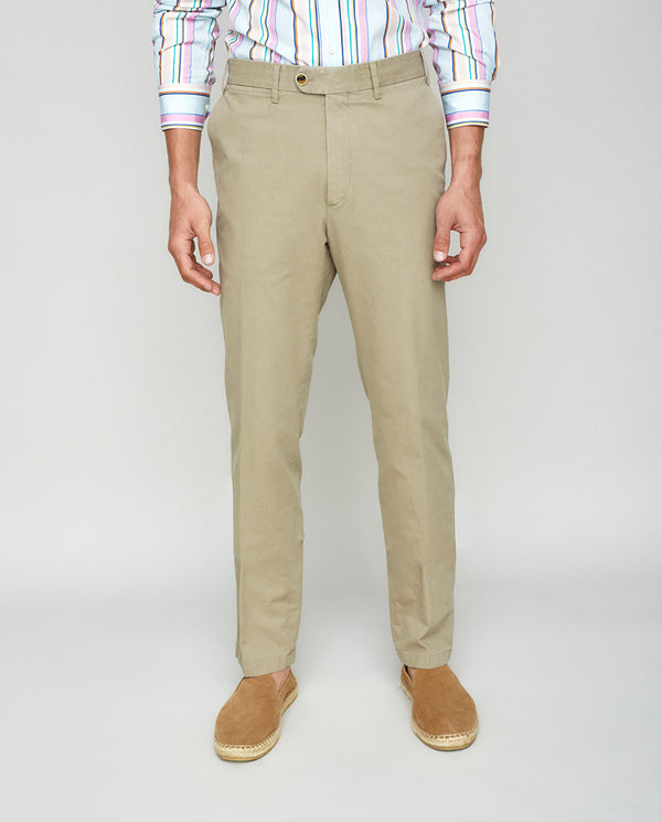 PANTALON CASUAL DOBLE FACE TOSTADO by MIRTO