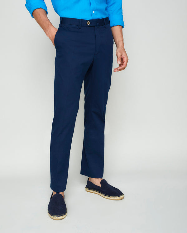 PANTALON CASUAL ESTRUCTURA MARINO by MIRTO