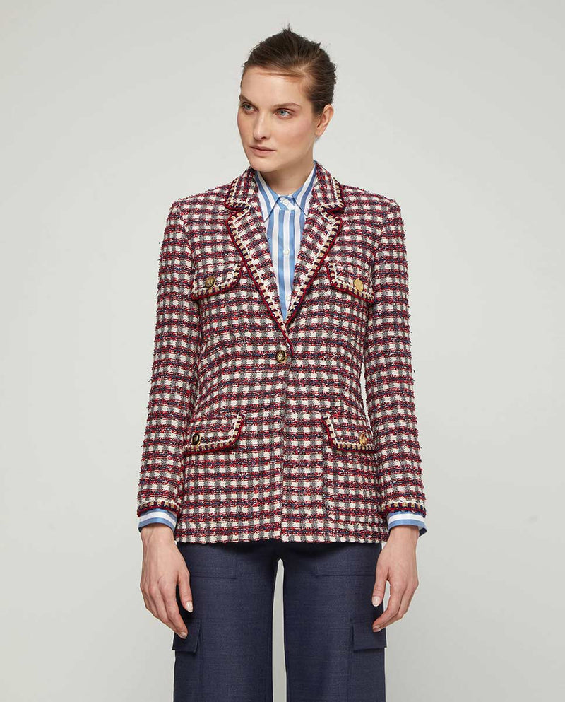 CHAQUETA TWEED CUADROS by MIRTO