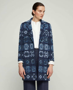 CHAQUETA AZUL DE TWEED by MIRTO