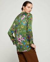 BLUSA VERDE FLORAL by MIRTO