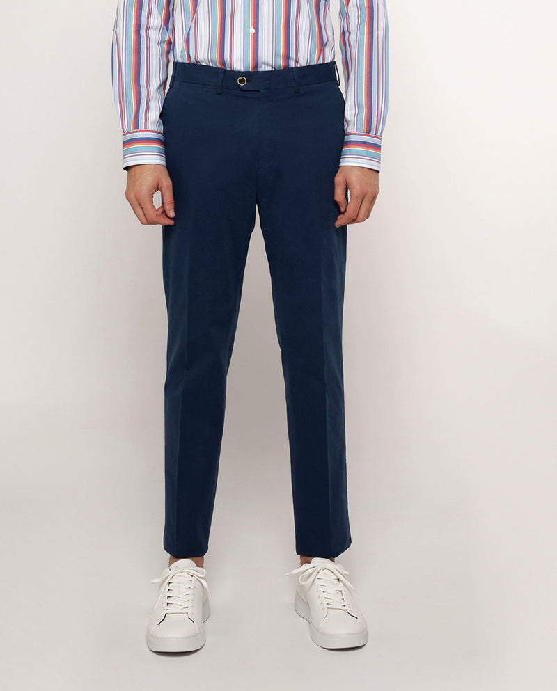 PANTALON CASUAL AZUL DE ALGODON by MIRTO