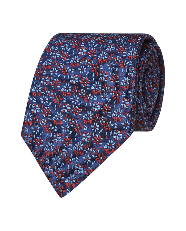 CORBATA ESTAMPADA JACQUARD DE SEDA NATURAL by MIRT