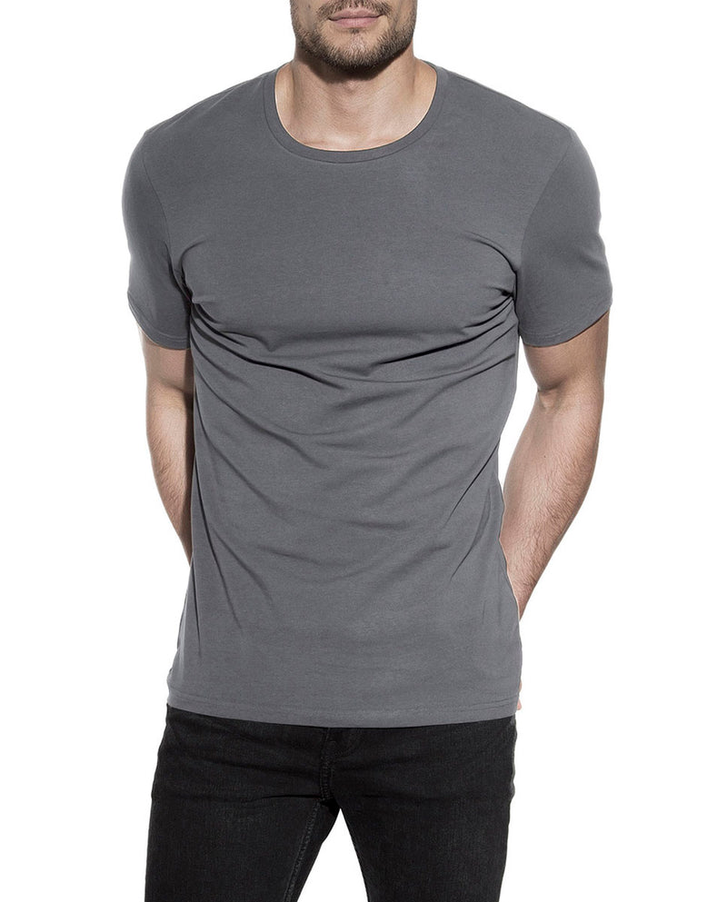 CREW-NECK STEEL GREY by MIRTO