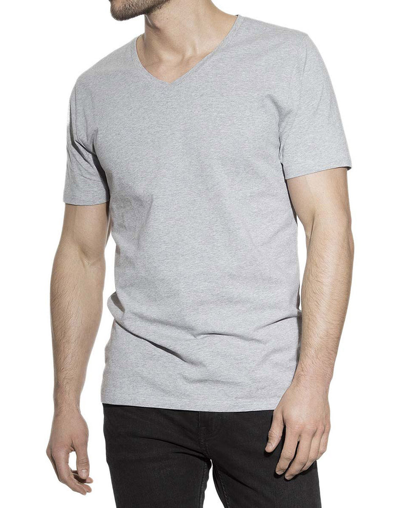 V-NECK GREY MELANGE by MIRTO
