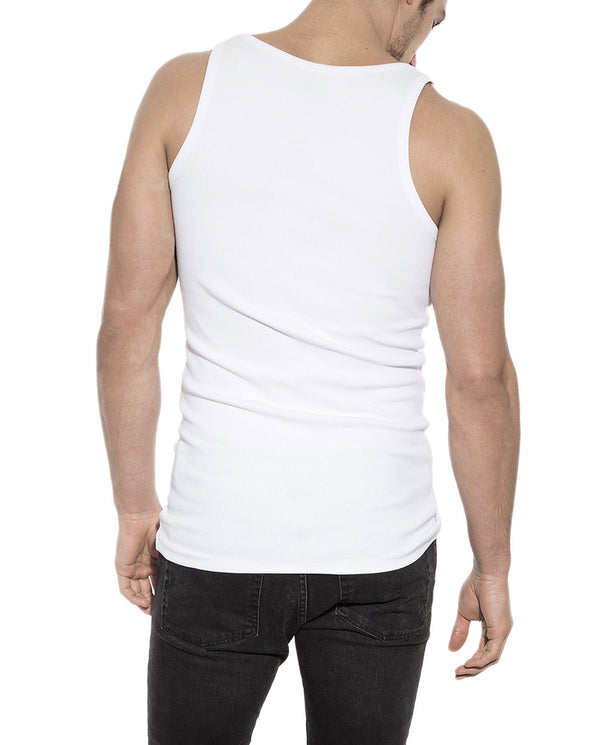 TANK RIBBED WHITE by MIRTO