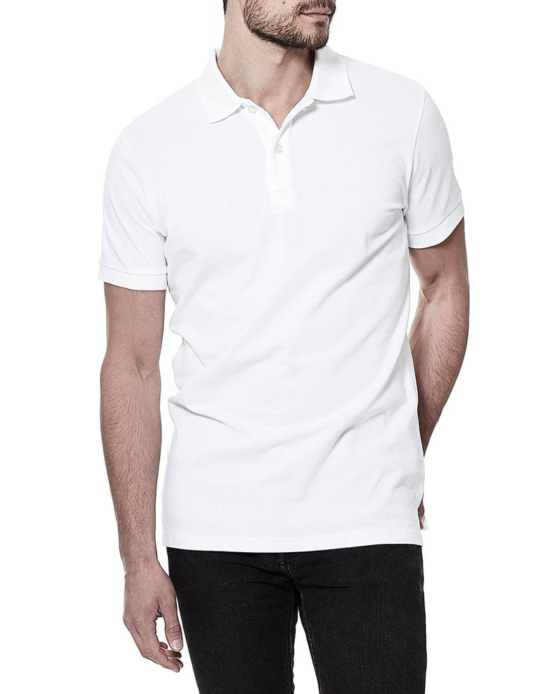 PIQUE POLO WHITE by MIRTO