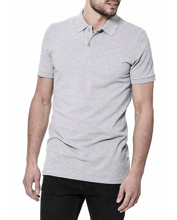 PIQUE POLO GREY MELANGE by MIRTO