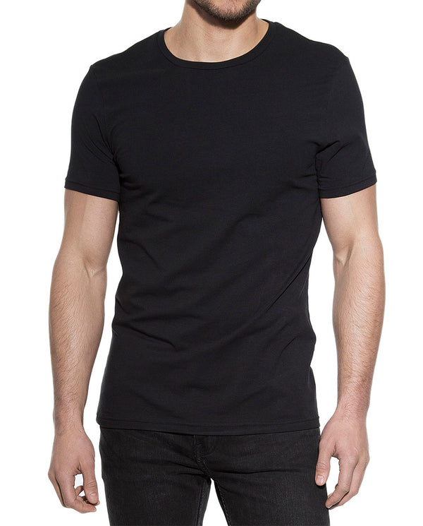 2-PACK CREW-NECK BLACK by MIRTO