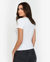 CREW-NECK WHITE by MIRTO