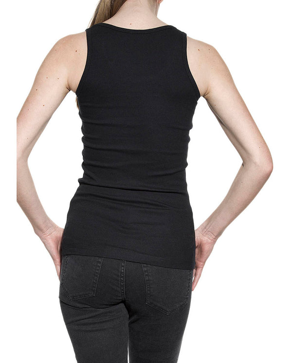 TANK RIBBED BLACK by MIRTO