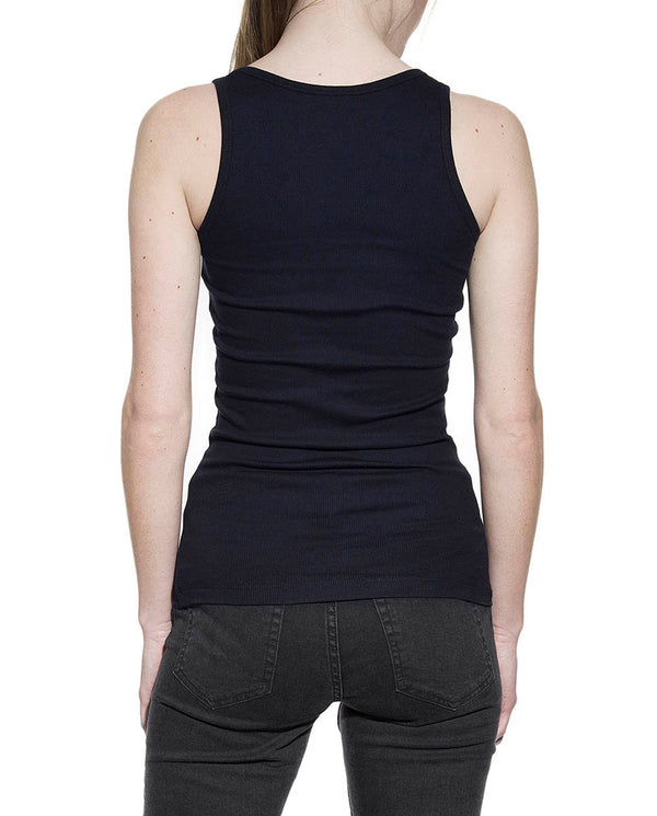 TANK RIBBED DARK NAVY by MIRTO