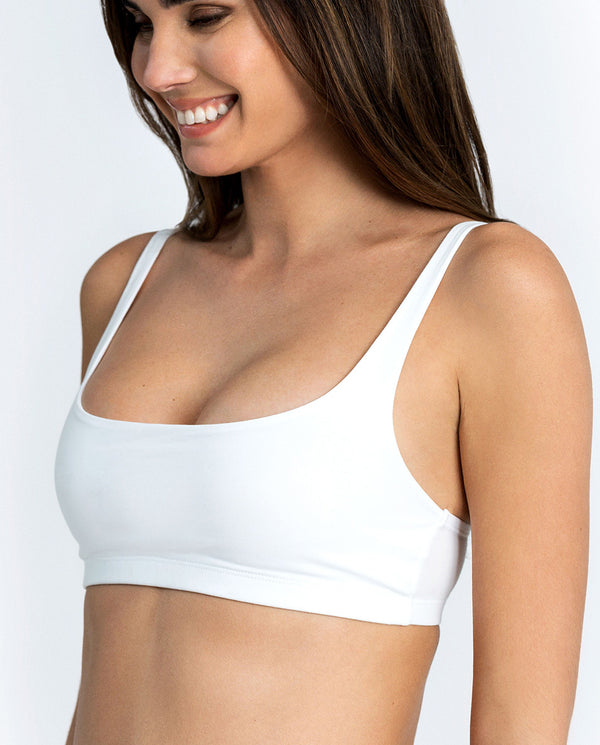 SOFT BRA WHITE by MIRTO