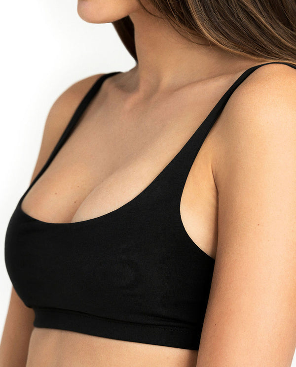 SOFT BRA BLACK by MIRTO