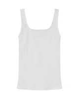 SB TANK RIBBED WHITE by MIRTO