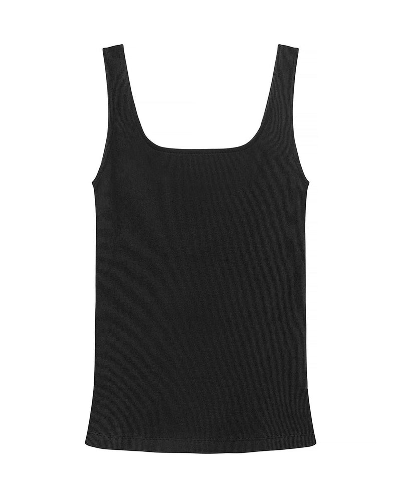 SB TANK RIBBED BLACK by MIRTO