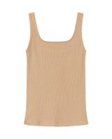 SB TANK RIBBED BEIGE by MIRTO