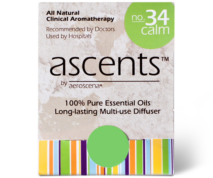 Ascents Clinical Aromatherapy Essential Oil Nasal Inhaler for Stress and Anxiety