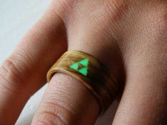 Bentwood wood ring inlay glow