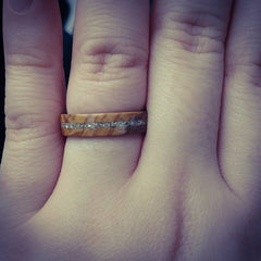 Wood engagement wedding ring