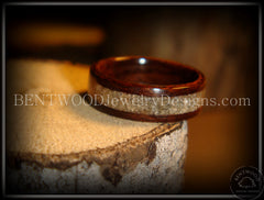 Bentwood Rings - Rosewood Wood Ring with Light Sand Inlay - Bentwood Jewelry Designs - Custom Handcrafted Bentwood Wood Rings  - 2