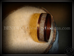 Bentwood Ring - Rosewood Wood Ring with Light Sand Inlay - Bentwood Jewelry Designs - Custom Handcrafted Bentwood Wood Rings