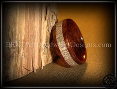 Bentwood Rings - Rosewood Wood Ring with Light Sand Inlay - Bentwood Jewelry Designs - Custom Handcrafted Bentwood Wood Rings  - 4