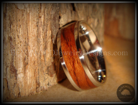 Bentwood Ring - Waterfall Bubinga Wood Ring with Stainless Steel Metal Core