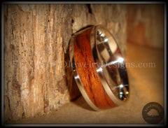 Bentwood Ring - Waterfall Bubinga Wood Ring with Stainless Steel Metal Core - Bentwood Jewelry Designs - Custom Handcrafted Bentwood Wood Rings