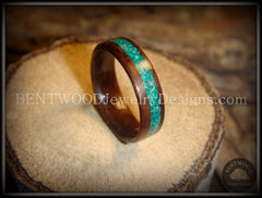 Bentwood Ring - Macassar Ebony Wood Ring with Malachite Inlay using Bentwood Process - Bentwood Jewelry Designs - Custom Handcrafted Bentwood Wood Rings  - 3