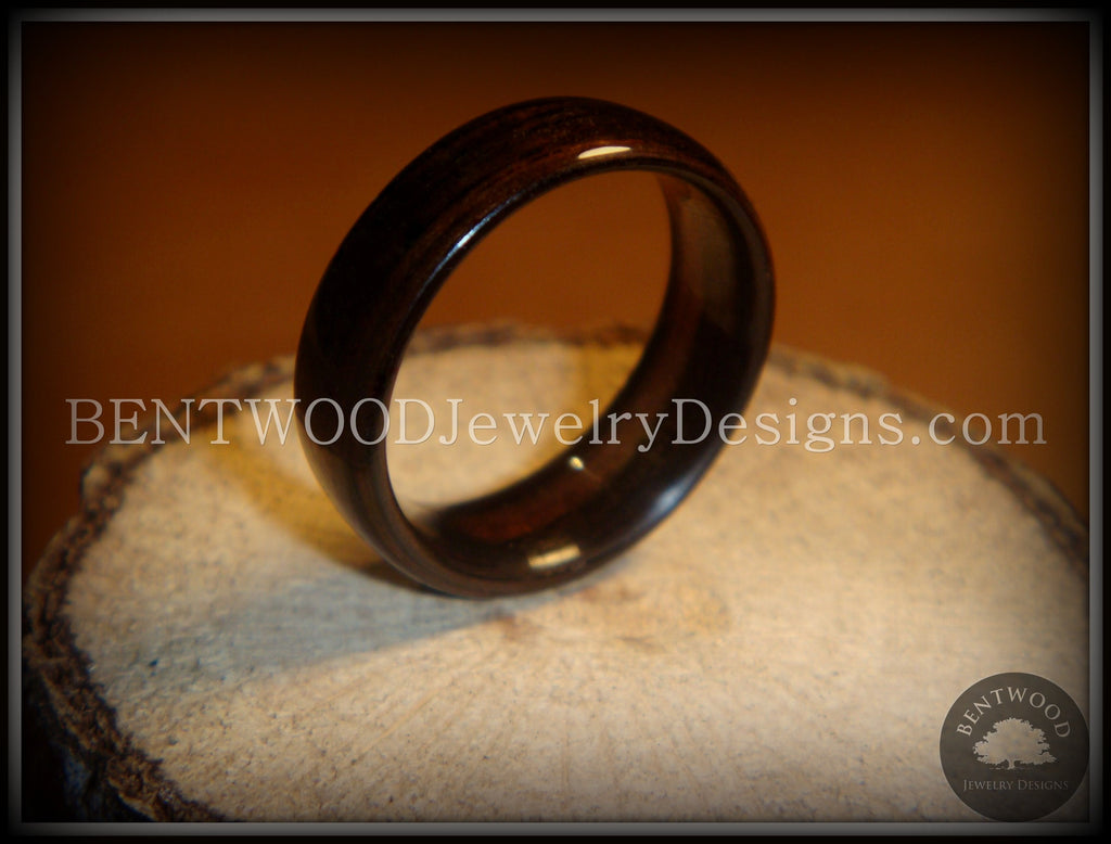 Bentwood Ring - Macassar Ebony Wood Ring - Bentwood Jewelry Designs - Custom Handcrafted Bentwood Wood Rings