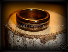 Bentwood Ring - Macassar Ebony Wood Ring with Double Sand Inlay - Bentwood Jewelry Designs - Custom Handcrafted Bentwood Wood Rings  - 2