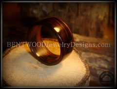Bentwood Ring - Macassar Ebony Wood Ring with Copper Inlay - Bentwood Jewelry Designs - Custom Handcrafted Bentwood Wood Rings  - 2