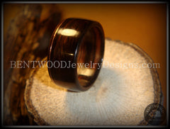 Bentwood Ring - Macassar Ebony Wood Ring with Copper Inlay - Bentwood Jewelry Designs - Custom Handcrafted Bentwood Wood Rings  - 1