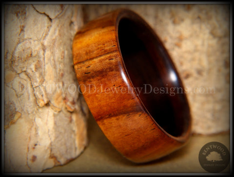 Bentwood Ring - Desert Ironwood on Ebony Core Wood Ring