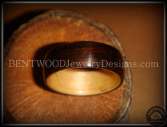Bentwood Ring - Macassar Ebony Wood Ring (Dark) with Birch Liner - Bentwood Jewelry Designs - Custom Handcrafted Bentwood Wood Rings  - 2