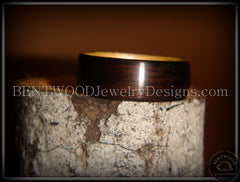 Bentwood Ring - Macassar Ebony Wood Ring (Dark) with Birch Liner - Bentwood Jewelry Designs - Custom Handcrafted Bentwood Wood Rings