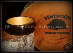 Bentwood Ring - Macassar Ebony Wood Ring (Dark) with Birch Liner - Bentwood Jewelry Designs - Custom Handcrafted Bentwood Wood Rings  - 4