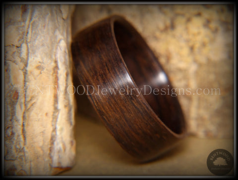 "Bentwood Ring - ""Ancient"" Medium Darkness 6000 Year Old Bog Oak Dark Classic Wood Ring  ***  Limited Supply  ***"