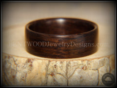 "Bentwood Ring - ""Ancient"" 6000 Year Old Bog Oak Dark Classic Wood Ring   ------------  ***  Limited Supply  *** - Bentwood Jewelry Designs - Custom Handcrafted Bentwood Wood Rings"