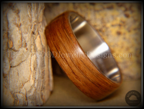 "Bentwood Ring - ""Ancient"" Light Bog Oak on Titanium Core"