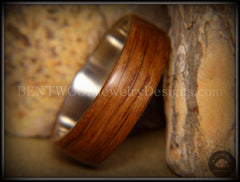 "Bentwood Ring - ""Ancient"" Light Bog Oak on Titanium Core - Bentwood Jewelry Designs - Custom Handcrafted Bentwood Wood Rings  - 2"