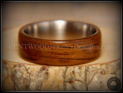 "Bentwood Ring - ""Ancient"" Light Bog Oak on Titanium Core - Bentwood Jewelry Designs - Custom Handcrafted Bentwood Wood Rings  - 3"