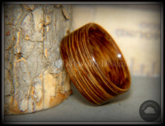 Bentwood Ring - Brazilian Brownheart Wood Ring handcrafted bentwood wooden rings wood wedding ring engagement